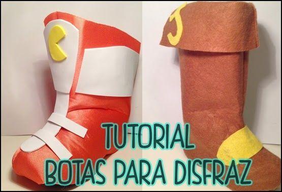 Hoy os voy a enseñar a hacer estas botas, es un patrón base que como veréis podéis adaptar a cualquier disfraz que lleve botas.   Yo las he...