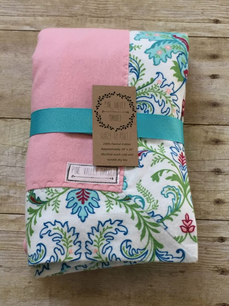 Flannel Baby Blanket - Floral Baby Blanket - Pink Baby Blanket - Girl Baby Blanket - Baby Shower Gift - Baby Bedding by PineValleyMarket on Etsy https://www.etsy.com/listing/268667749/flannel-baby-blanket-floral-baby-blanket