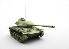 Tank M41 stock photo