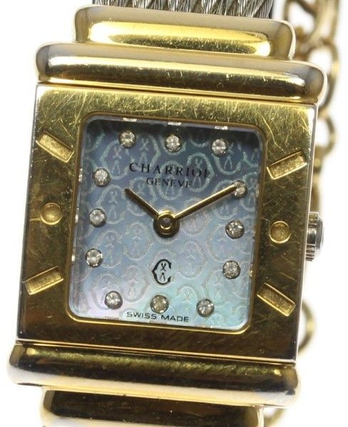 Philippe Charriol ST.TROPEZ STR2 Stainless Steel / Gold Plated 20mm Womens Watch
