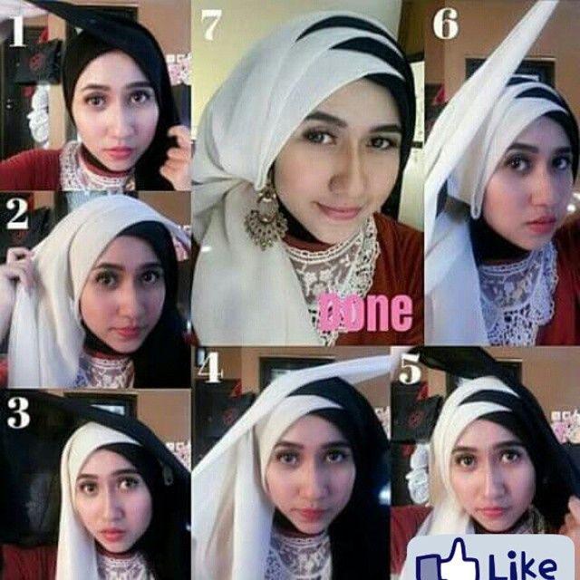 Tutorial Jilbab 2 Warna Untuk Pesta Ragam Muslim Pesta Hijab