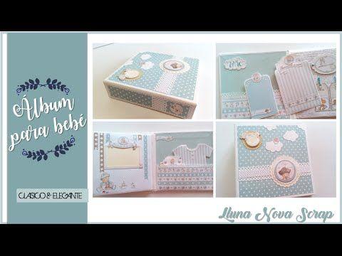 Tutorial Album para Bebé con Solapas sencillo   DIY SCRAPBOOK   Scrapbooking   Luisa PaperCrafts - YouTube