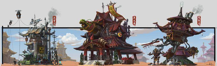 ArtStation - Steam punk building 2, Chen Cheng