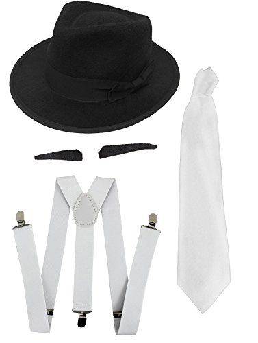 nice       £8.99  GREAT QUICK & EASY FANCY DRESS ACCESSORY SET, PERFECT FOR 1920'S GANGSTERS, AL CAPONE, GREAT GATSBYADULTS GANGSTER FANCY DRESS ...  Check more at http://fisheyepix.co.uk/shop/gangster-fancy-dress-accessory-set-white-tie-white-braces-3x-spiv-moustaches-black-trilby-hat-1920s-mob-gangster-men-al-capone/