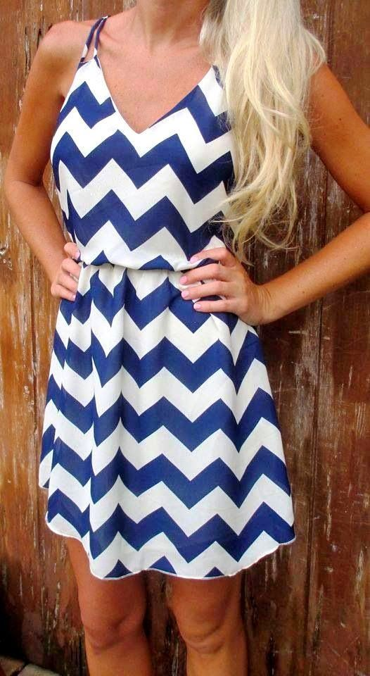 Lovely chevron summer dress fashion. I have been looking for a dress in chevron pattern. Would love any pieces that would come in this type of pattern.