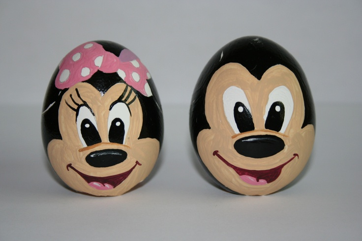 Mickey And Minnie Mouse Easter Eggs Painted By Me