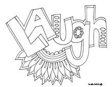 Laugh Free Printable Coloring Page