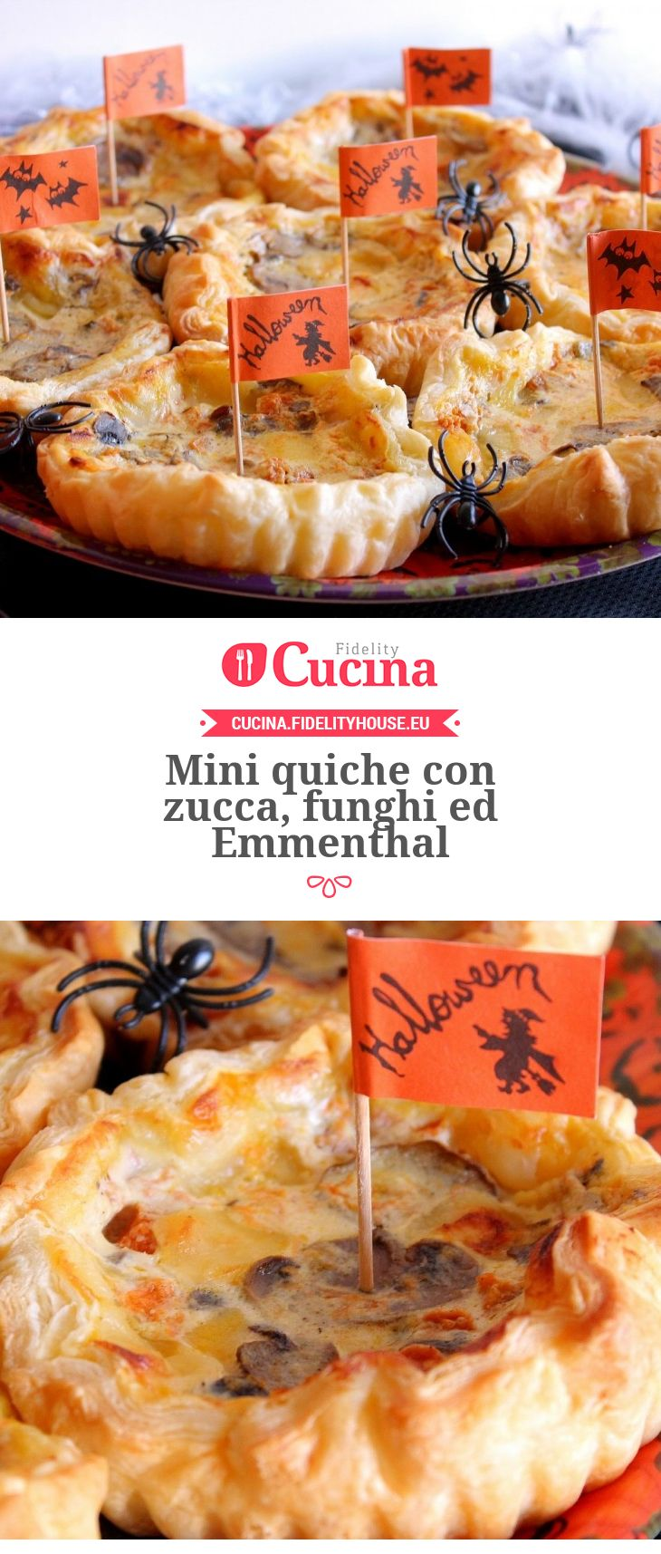 Mini #quiche con #zucca, #funghi ed #Emmenthal della nostra utente Giovanna. Unisciti alla nostra Community ed invia le tue ricette!