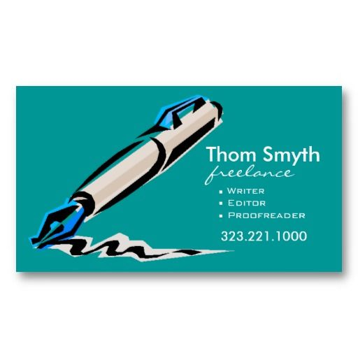 Best business cards for writers image collections card design 20 best business cards for writers images on pinterest business writer editor 4 stylish creative business reheart Choice Image