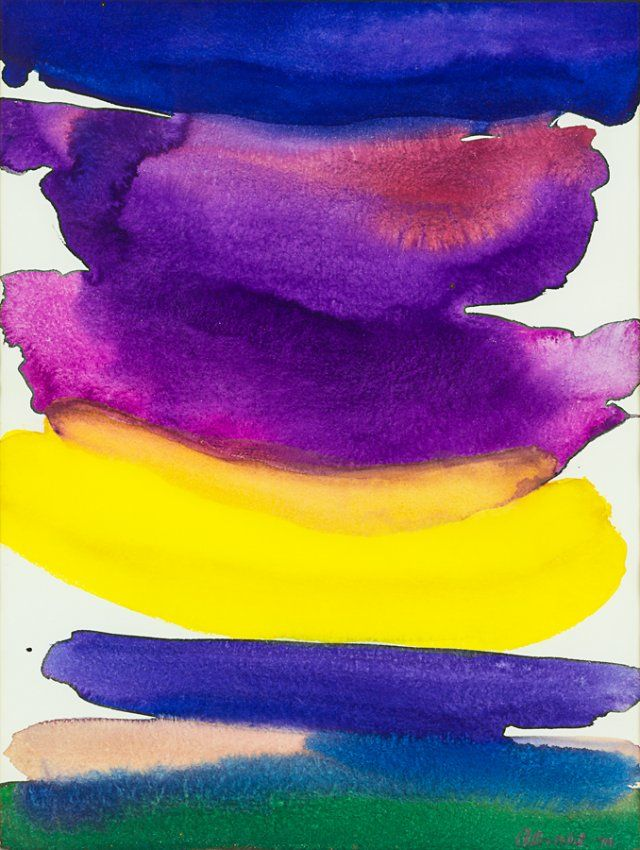 Gretchen Albrecht watercolour signed and dated '74 530 x 390mm