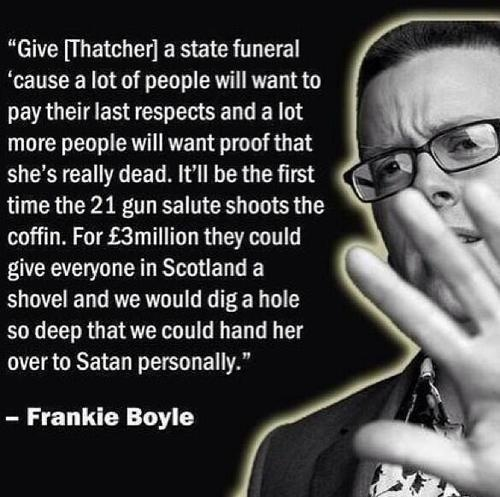Day 59 just been to see Frankie Boyle. He's so bad it's so funny