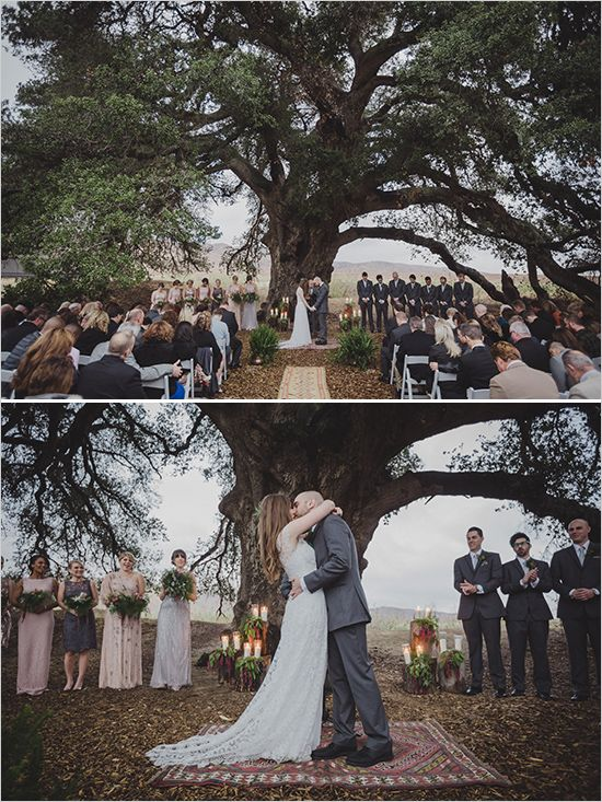 ceremony under a tree @weddingchicks Highland Springs Resort on my list
