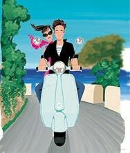 Roman Holidays _ Vacanze Romane - Love in Vespa - Illust. #JordiLabanda