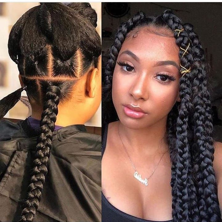 Natural Big Braids Hairstyles Pictures