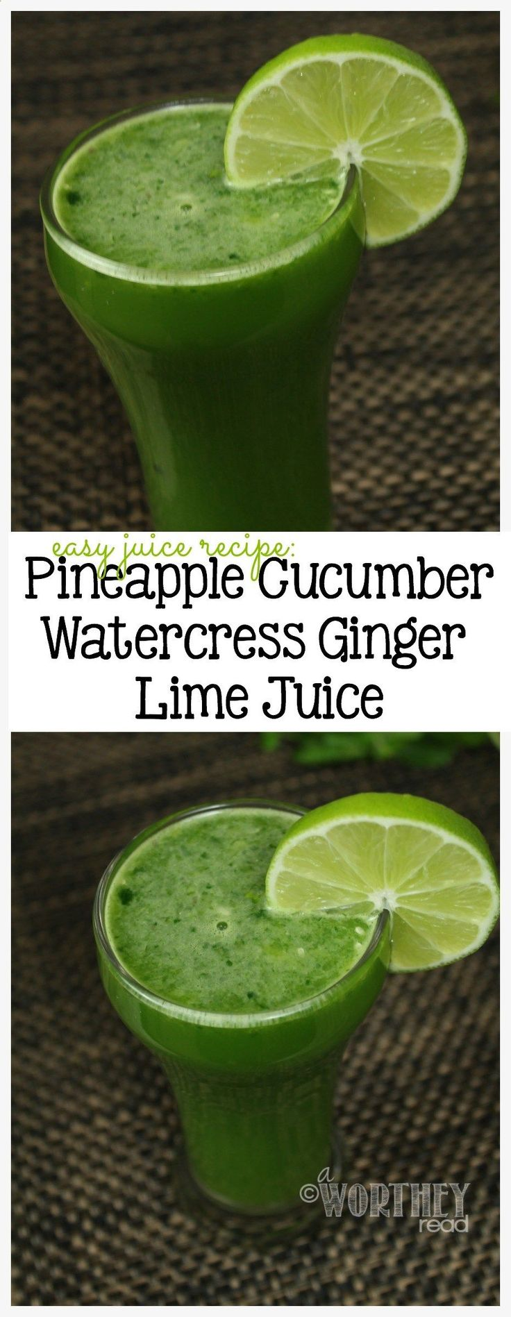 Juicing has taken a new lease on life! If youre looking for easy juice recipes, heres a great one with cucumbers, pineapples, watercress and lime! The benefits of juicing are just amazing! Save to your board and check out this easy juice recipe!