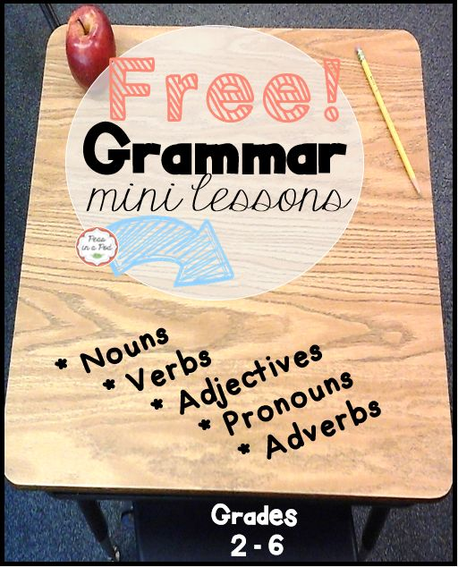 "FREE! ~ This grammar mini lesson pack covers nouns, singular and plural nouns, the verb ""be"", pronouns, adjectives, and adverbs. 	 	This is a sample taken from my grammar bundle. The complete grammar pack can be found at:  https://www.teacherspayteachers.com/Product/Grammar-2118159"