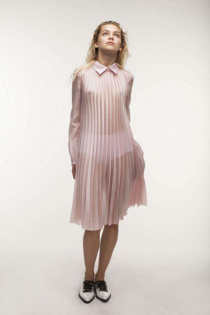 Pink plisse dress