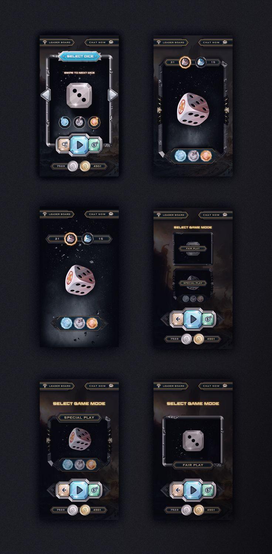 Designs diceon game layout design gui app design