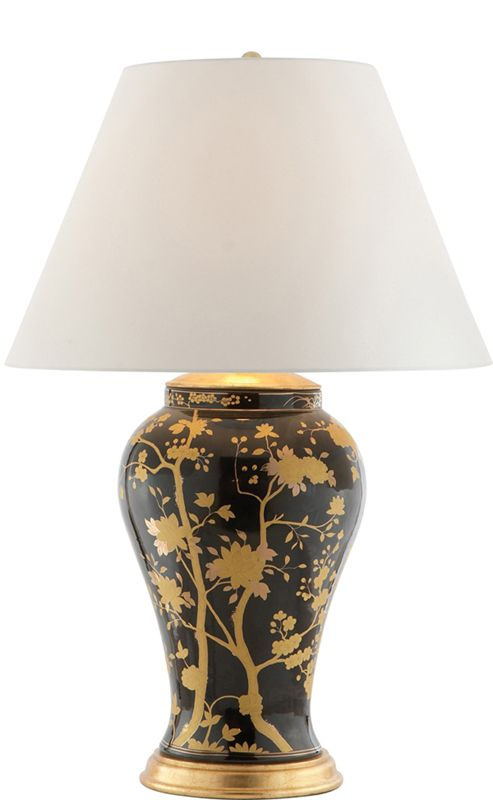 Ralph Lauren Black & Gold Table Lamp, sharing beautiful designer home decor inspirations: luxury living room, dinning room & bedroom furniture, chandeliers, table lamps, mirrors, wall art, decorative     tabletop & bathroom accents & gifts courtesy of instyle-decor.com Beverly Hills enjoy & happy pinning