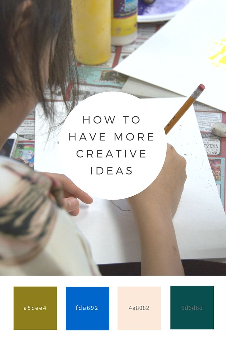 how to develop creative ideas