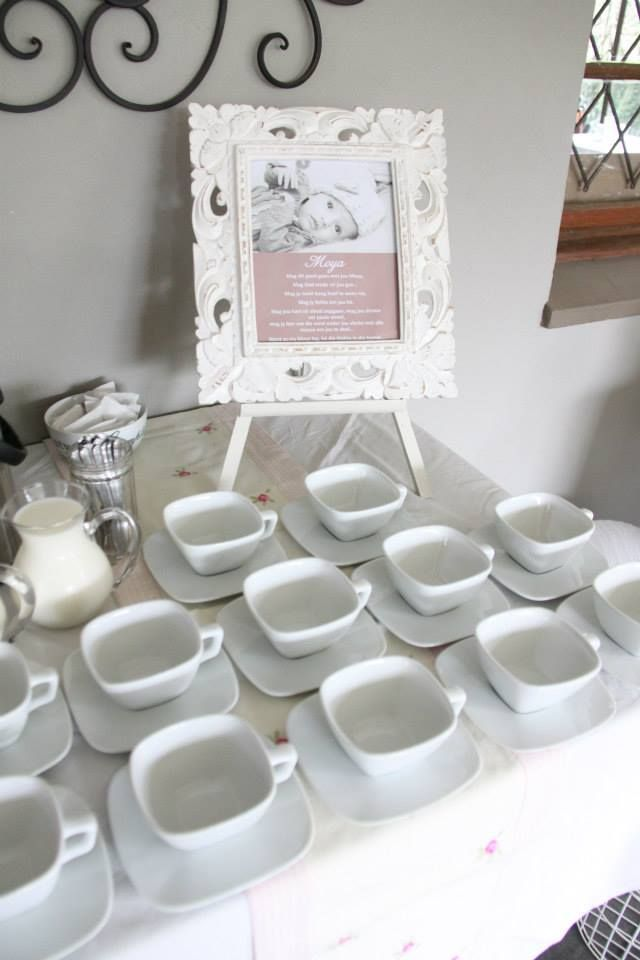 Girl Christening Tea Table