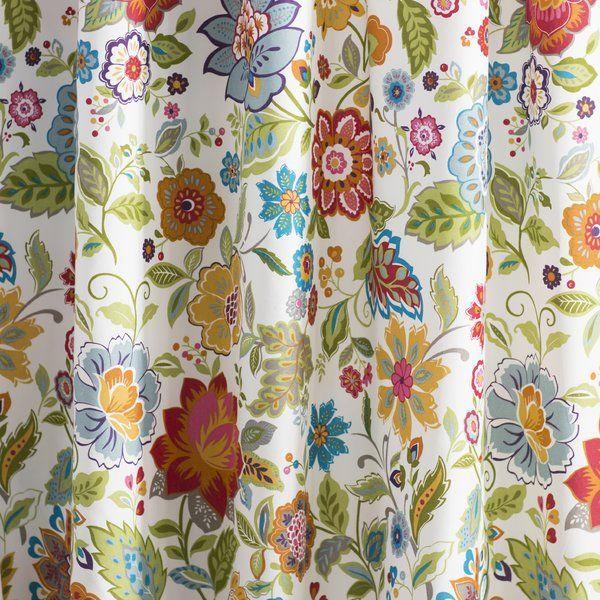 Heartwood Floral Semi Sheer Rod Pocket Curtains Rod Pocket