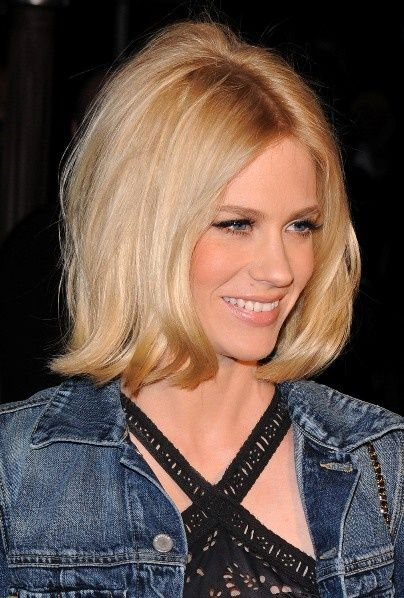 January Jones sexy, blonde hairstyle