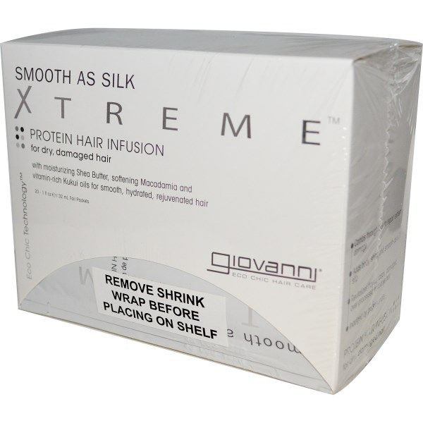 Giovanni, Smooth as Silk Xtreme, Protein Hair Infusion, 20 Foil Packets, 1 fl oz (32 ml) Each