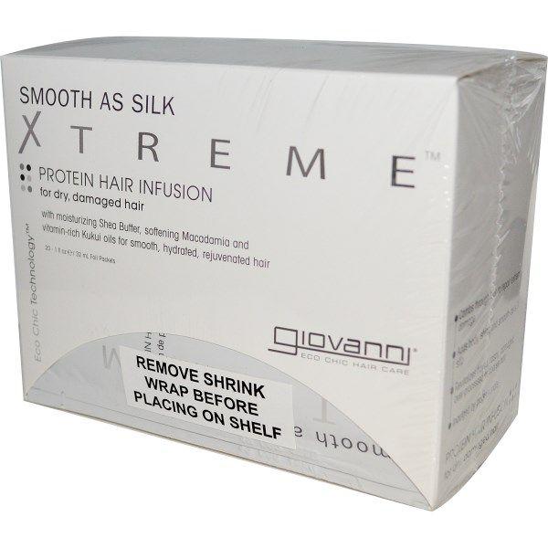 Giovanni, Smooth as Silk Xtreme, Protein Hair Infusion, 20 Foil Packets, 1 fl oz (32 ml) Each