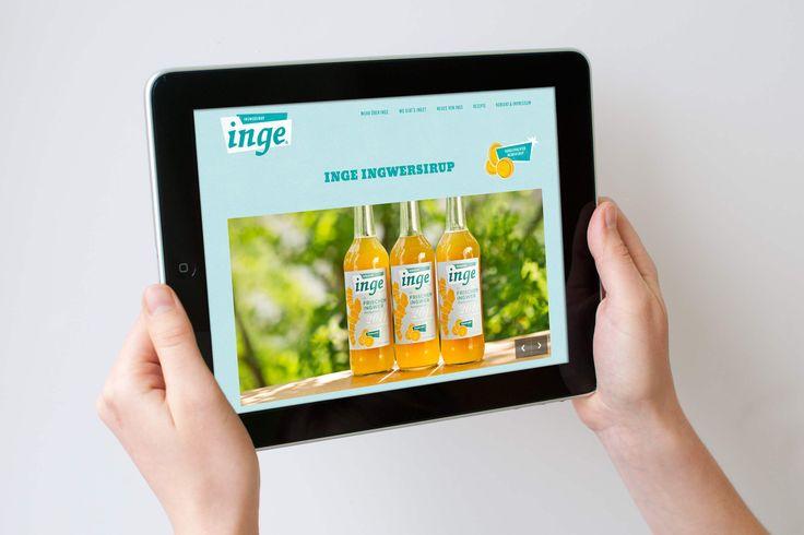 INGE INGWERSIRUP / Naming, Brand Design und Packaging / #Website #Tablet / by Zeichen & Wunder, München