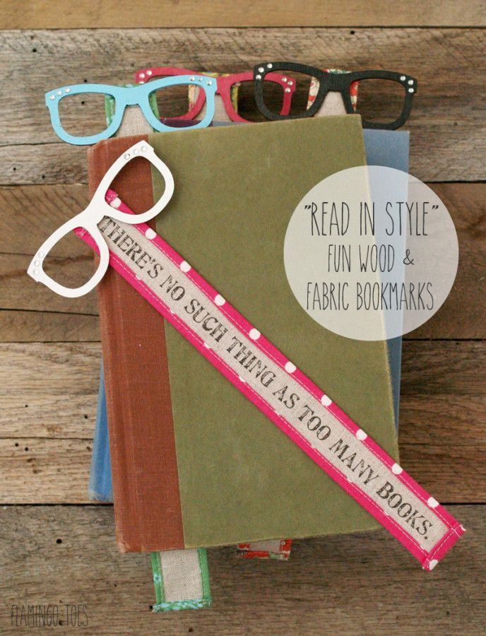 Marcadores de madera y tela   -   Read In Style: Fun Wood and Fabric Bookmarks                                                                                                                                                     Más