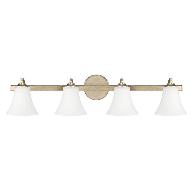 Capital Lighting Sidney Collection 4-light Winter Gold Bath/ Vanity Light by Capital Lighting ...