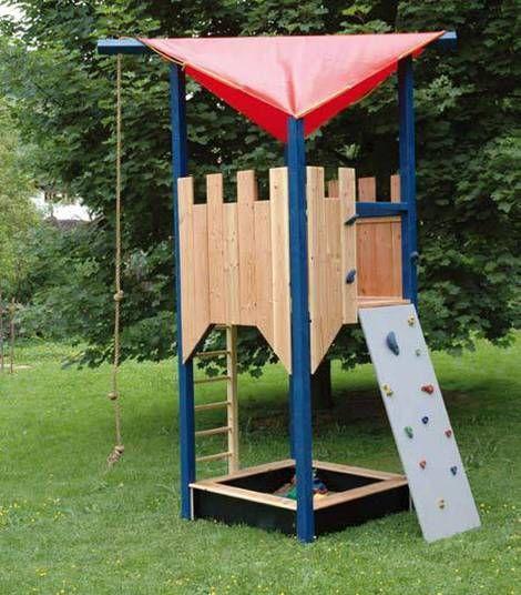 Die besten 25+ Spielturm selber bauen Ideen auf Pinterest - garten bett selber bauen
