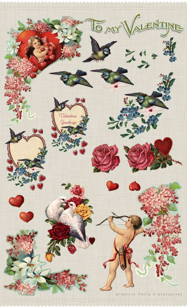 Valentine: Printable Valentines, Vintage Valentines, Free Valentines, Clip Art, Valentine'S S, Valentines Ephemera, Scrapbook Pages, Freebies Printable, Graphics Fairies