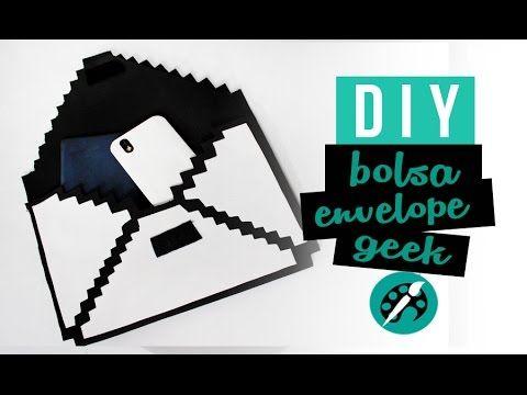 DIY BOLSA ENVELOPE PIXEL ❤ GEEK TUTORIAIS - YouTube