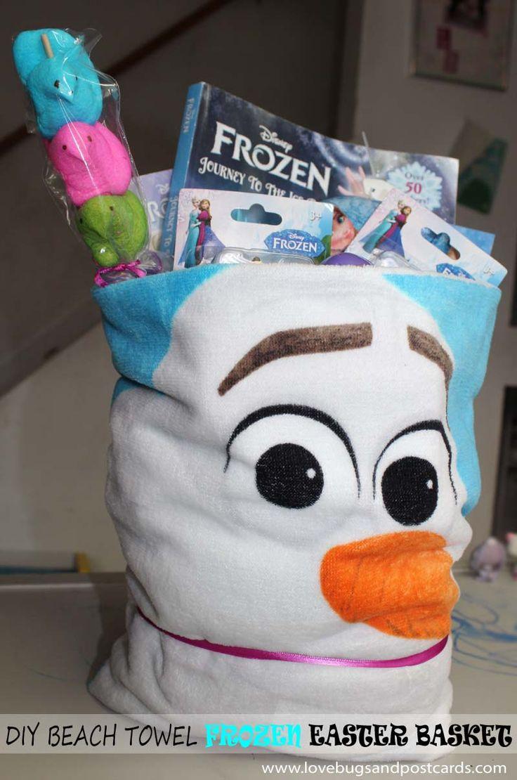 DIY Beach Towel Frozen Easter Basket