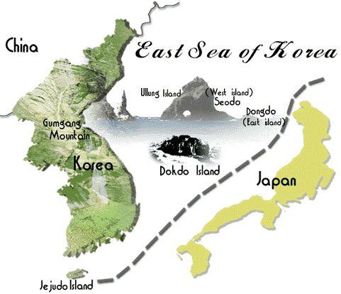 Korea, map, Dokdo