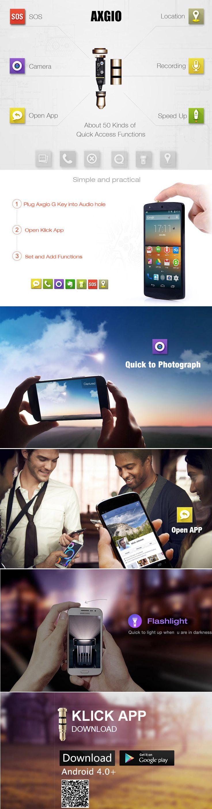 Купить AXGIO G Key 3.5mm Smart Klick Quick Button f Android 4.0+ Phone EPATH-319041 по низким ценам с характеристики и отзывы - TinyDeal Бренд Axgio G Key 3,5 смарт-кнопка быстрого Ярлык для съемки, оснастки, записи, открытия приложения и т.д. Творческий и умный нажатие кнопки Может использоваться в качестве пылезащитной пробкой С наушников Зажим для провода , удобно носить Поддержка часть телефонов Android 4.0+