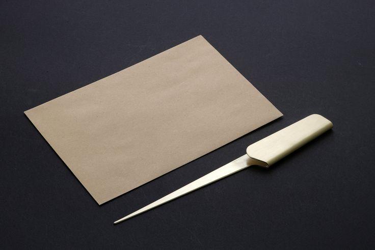 Fold open - letter opener in bronze from shibui! www.shibui.ch