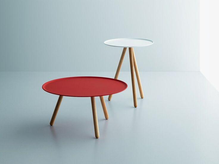 Tavolino basso rotondo in acciaio PINOCCHIO by Miniforms | design Giopato