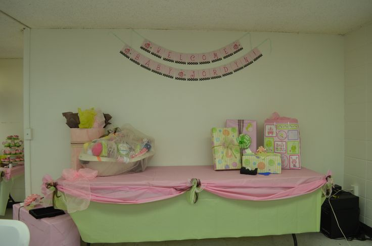 table layered table cloths pink and green ladybug baby shower