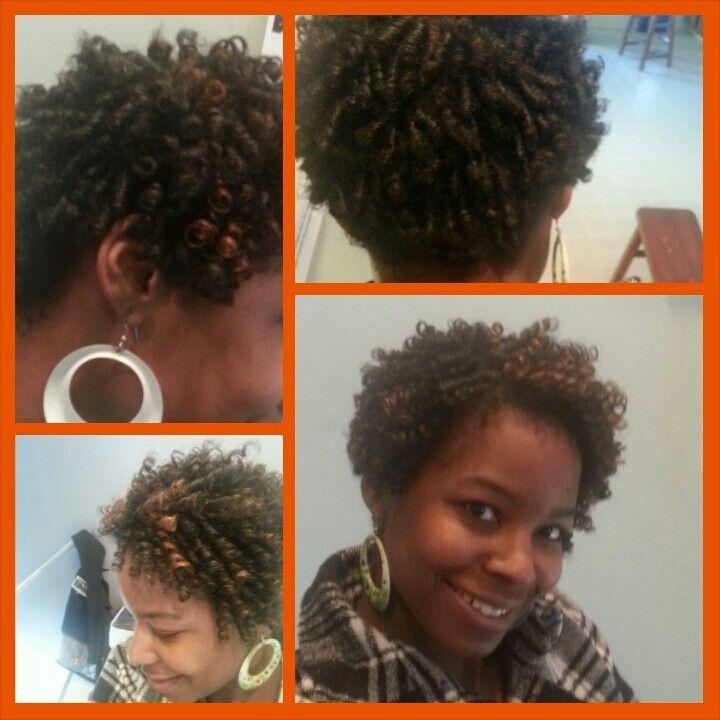 Straw set on short bob. naturalhair noheatcurls   Curly ...