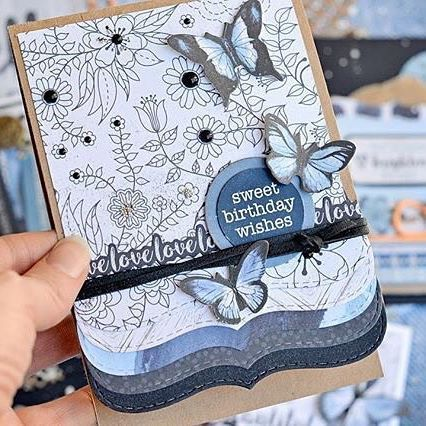 Looks like you all ❤️ Indigo Skies as much as we do! We don't blame you!! Thanks for the gorgeous inspiration @kasialeach @creative.kit.club #indigoskies #blue #cardmaking #birthday #butterflies #kaisercraft #makersgonnamake #scrapbooking #papercraft #dailydoseofpaper