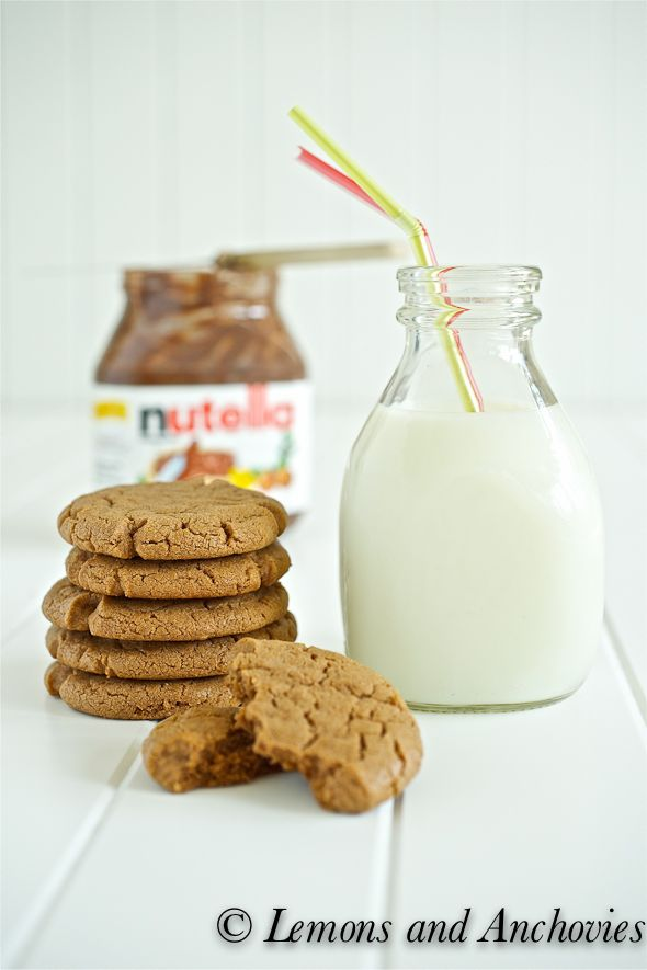 Peanut Butter Nutella Cookies Recipe | Lemons and Anchovies