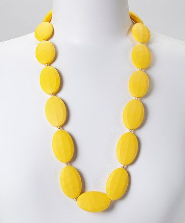 Loving this Lemon Zest Jules Teething Necklace - Women on #zulily! #zulilyfinds