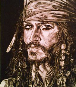Bits and Pieces - Jack Sparrow, charcoal