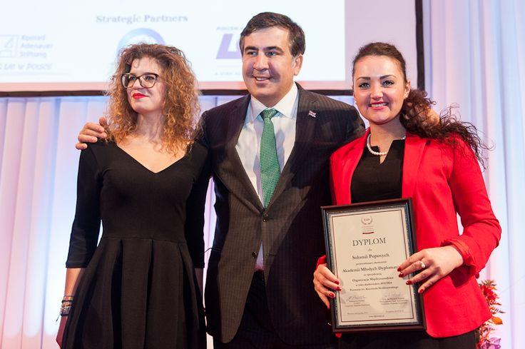 AYD10 students with Mikheil Saakashvili