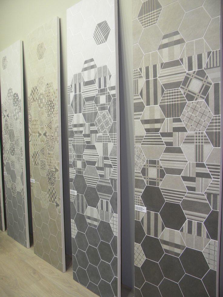Испанский производитель Equipe пополнил серию Hexatile новой фактурой под цемент с новыми элементами декорации.