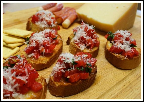 Julia and Julia's Bruschetta. I don't want to eat anything else for the rest of my life