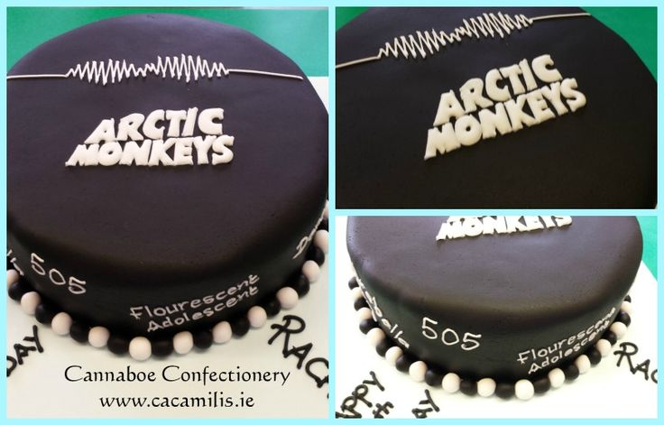 Cannaboe Artic Monkeys birthday cake #articmonkeys #505 #yum